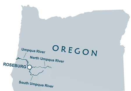 Umpqua Oregon Map.The North Umpqua River Steamboaters